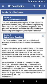 United States Constitution apk screenshot