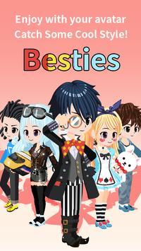 Besties - Make friend & Avatar apk screenshot