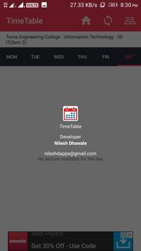 Timetable - School, college, Class Timetable screenshot 2