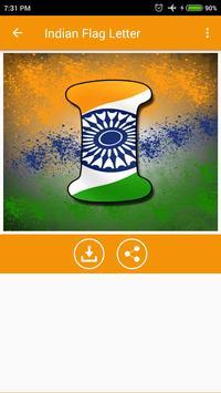 Indian Flag Letter screenshot 2