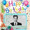 Birthday Cake Photo Frame Card