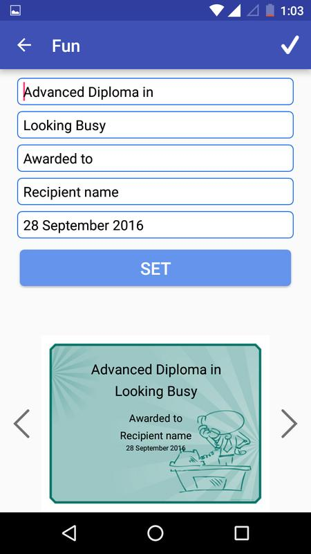 certificate maker creator for android apk download