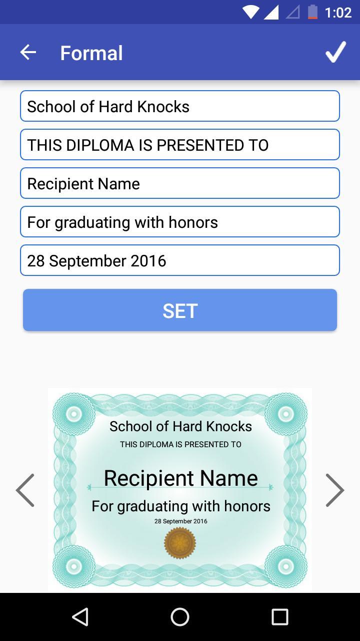 certificate maker creator internet apkpure