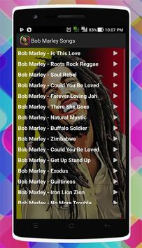 Bob Marley Songs screenshot 1