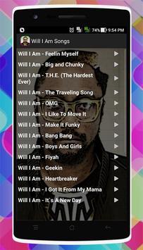 Will I Am Songs screenshot 1