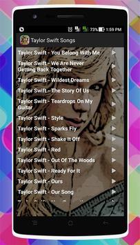 Taylor Swift Songs screenshot 1