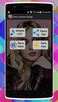 Zara Larsson Songs poster