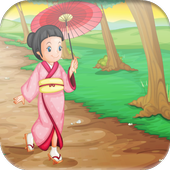 Cute Asian Girls game for Kids icon