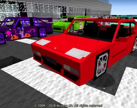 Cars Addon for Minecraft poster