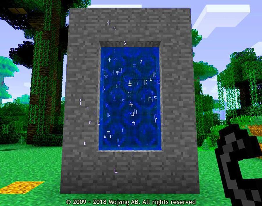 Майнкрафт портал на планшет