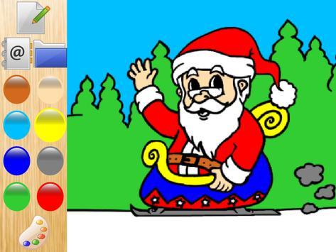 Colorful christmas Santa Claus poster
