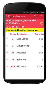 Edinburgh Lothian Buses Time screenshot 1