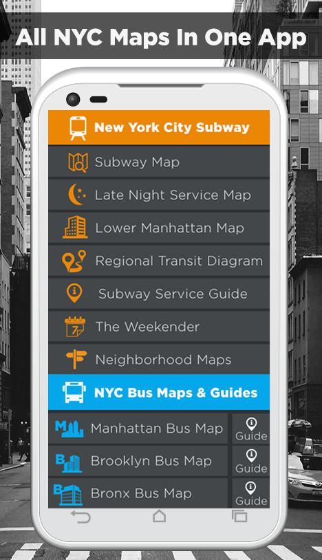 Late Night Weekend Subway Map Ny.Nyc Subway Bus Rail Bike Maps For Android Apk Download