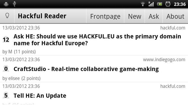Hackful Europe Reader screenshot 4