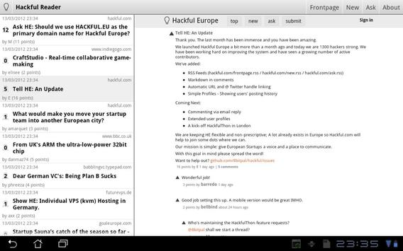 Hackful Europe Reader screenshot 1