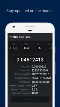 TRONIX : TRX Coin Price poster