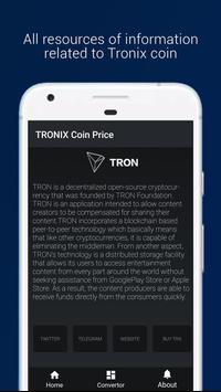 TRONIX : TRX Coin Price screenshot 1