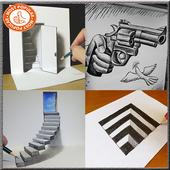 DIY Ide Menggambar 3D icon