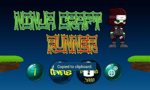 Ninja craft runner screenshot 1