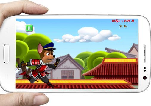 Paw Run ninja Patrol samurai screenshot 1
