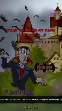 My Vampire Name poster