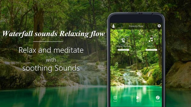 Waterfall sounds-Relaxing flow poster