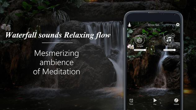Waterfall sounds-Relaxing flow screenshot 1