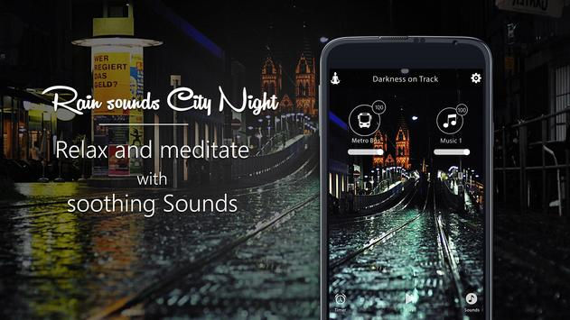 Relax Rain Sounds - City Night poster