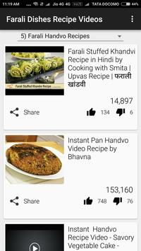 Farali Dishes Recipe Videos apk screenshot