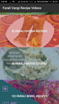 Farali Vangi Fasting Recipe(Upvas)Videos apk screenshot