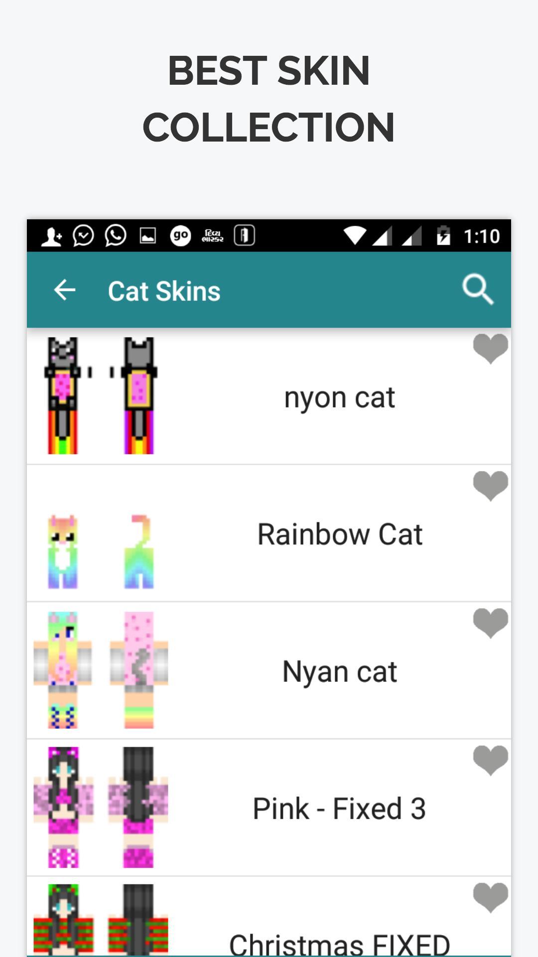 Cat Skins for Minecraft PE para Android - APK Baixar