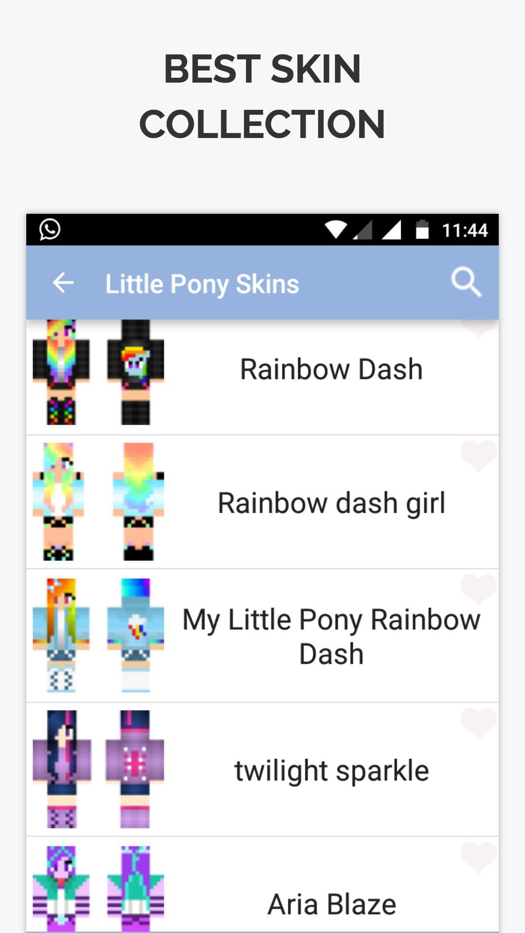 Little Pony Skin for Minecraft para Android - APK Baixar