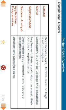 Pocket DBMS Overview apk screenshot