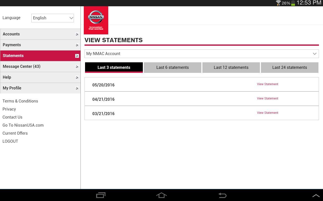 Nmac account manager apk download gratis bisnis apl for Nissan motor finance customer service