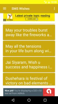 Happy Dussehra Wishes SMS Images poster