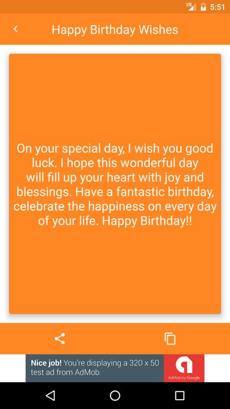 Happy Birthday Wishes SMS Images Wallpapers Screenshot 3