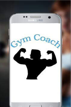 Fitness coach trainer poster