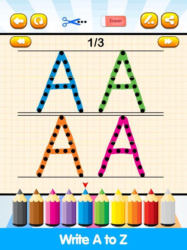 ABC alfabeto inglés escritura & colorear animales for Android - APK ...