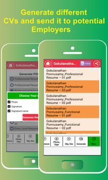 resume builder free 5 minute cv maker templates apk screenshot