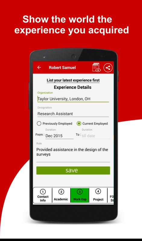 free resume builder cv maker templates creator for android apk