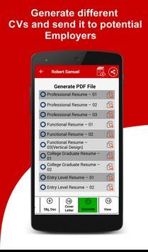 resume builder free 5 minute cv maker templates apk download