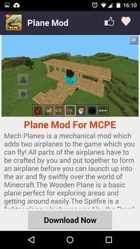 Plane MOD For MCPE! screenshot 1