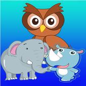Kids Coloring Book wild animal icon