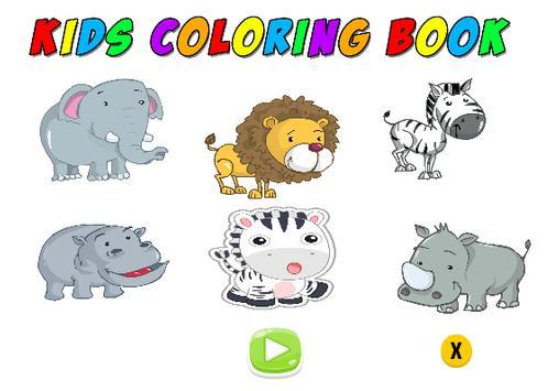 Kids Coloring Book wild animal screenshot 1
