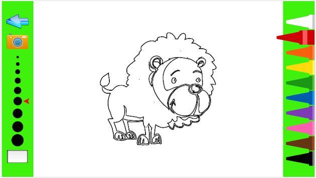 Kids Coloring Book wild animal screenshot 4