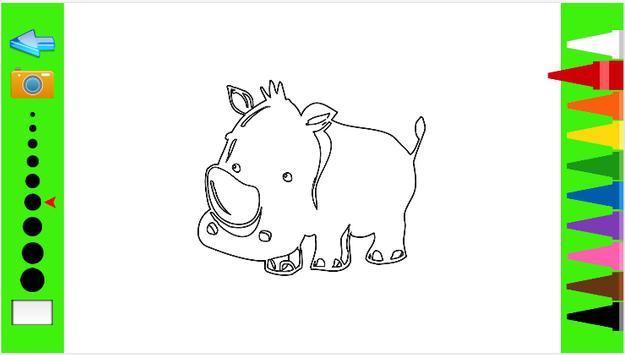 Kids Coloring Book wild animal screenshot 5