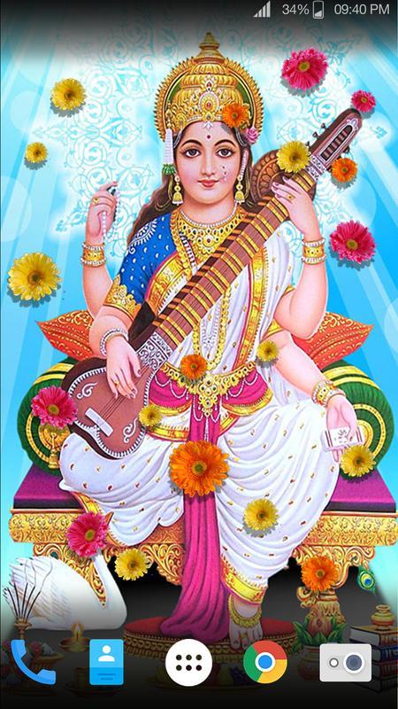 Maa Saraswati Hd Live Wallpaper For Android Apk Download
