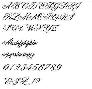 Tattoo Lettering Ideas screenshot 1
