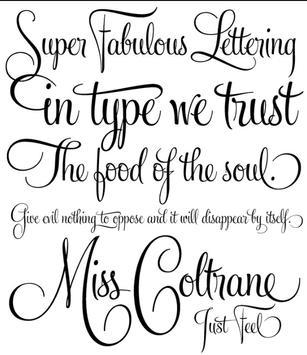 Tattoo Fonts Trendy poster