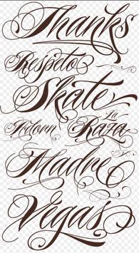 Tattoo Fonts Trendy screenshot 2